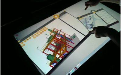 Visualisation 3D interactive sur grands écrans tactiles
